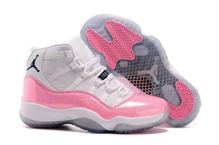 Nike New Jordans 2015 women Jordan 11 White Pink Colorful print, Price: £53.38 - New Air Jordan Shoes 2016 - Jordan2U.com