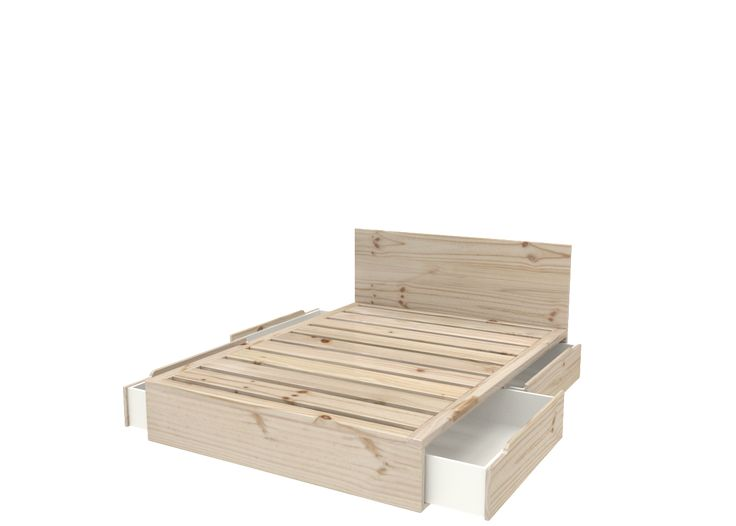 3/4 Bed with Under Storage Drawers - Eco furniture design