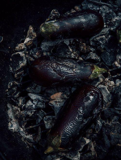 Charred eggplant SUECH AND BECK - TORONTO FOOD PHOTOGRAPHERS