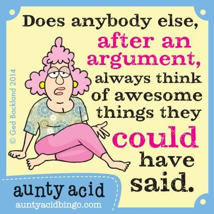 Aunty Acid on Life                                                       …                                                                                                                                                                                 More