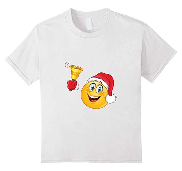 Kids Christmas Smiley Emoji T-Shirt for Men, Women & Kids 8 White