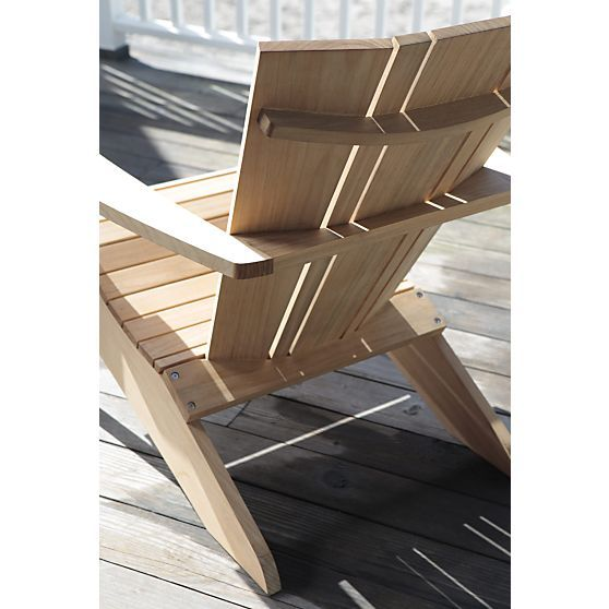 Vista Adirondack Chair In Outlet Outdoor | Crate And Barrel