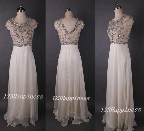 Long prom dress,beading prom dress,chiffon prom dress,chiffon homecoming dress, chiffon wedding party dress, long party dress