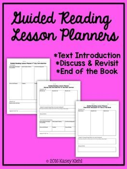 Guided Reading Lesson Plan Templates - FREE - 3rd, 4th, 5th, 6th, 7th, 8th grade