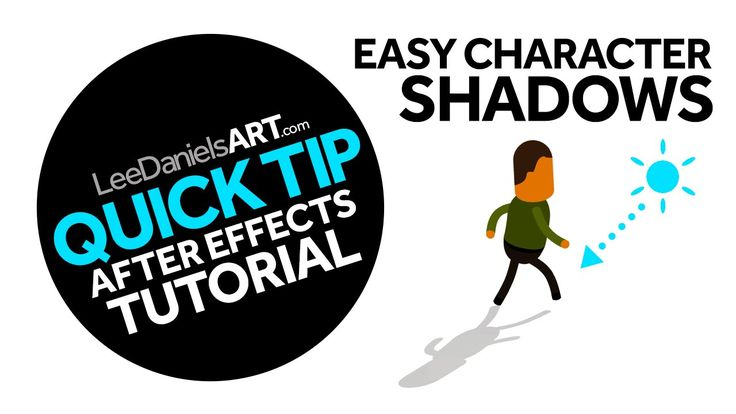 QUICK TIP | After Effects | Easy Character Shadows