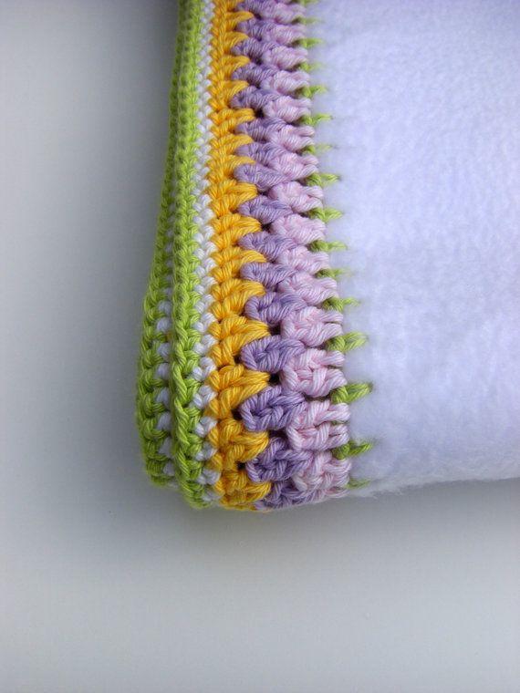 crochet edge on fleece blanket