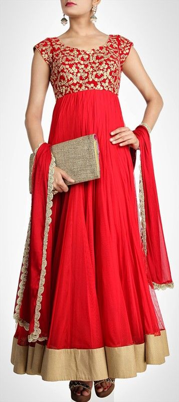 410590, Party Wear Salwar Kameez, Net, Stone, Bugle Beads, Sequence, Red and Maroon Color Family