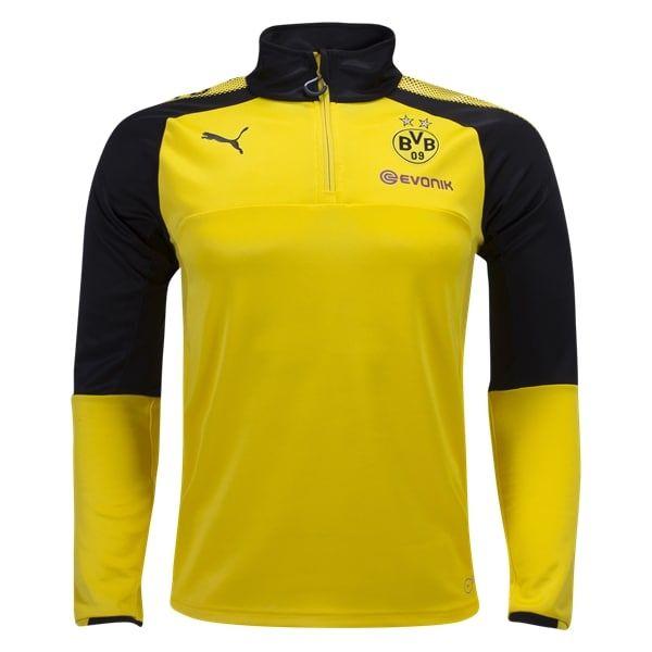 PUMA Borussia Dortmund Long Sleeve 1/4 Zip Training Top 17/18