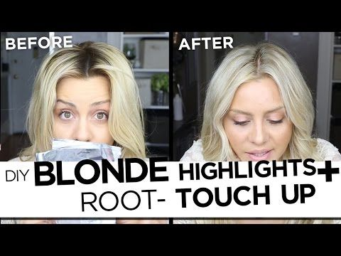 ▶ DIY Blonde Highlights And Root Touch Up Tutorial - My Updated Hair Routine - YouTube