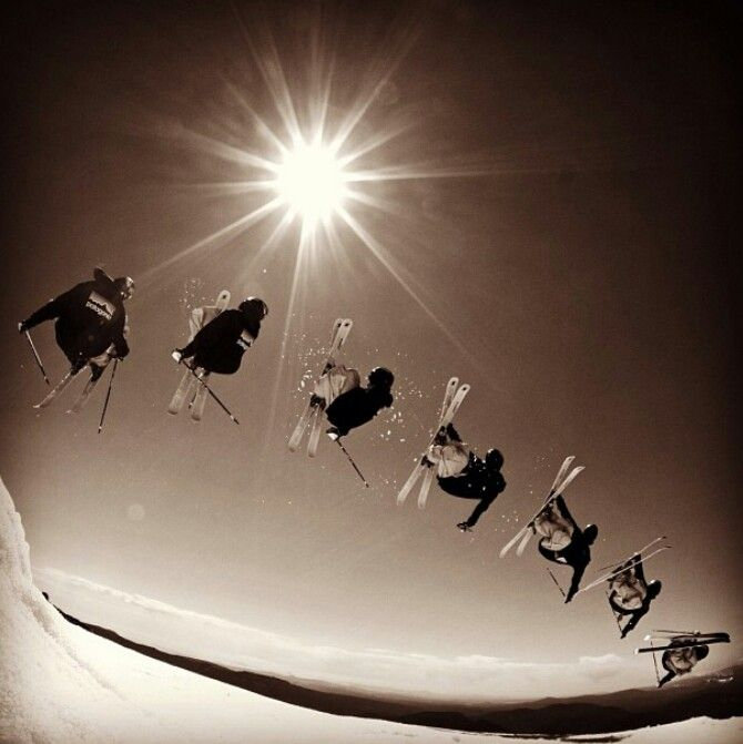 GUYS!! We need to get a group picture like this next time we go skiing! :D
