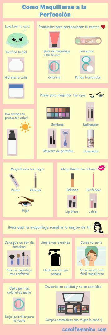 Aprende a maquillarte de la manera más sencilla con estas claves y consejos. <3
