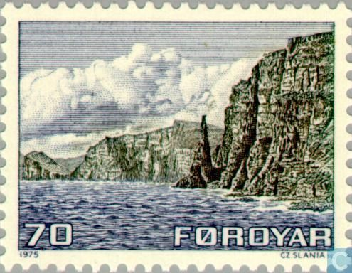 Postage Stamps - Faroe Islands - Maps and landscapes