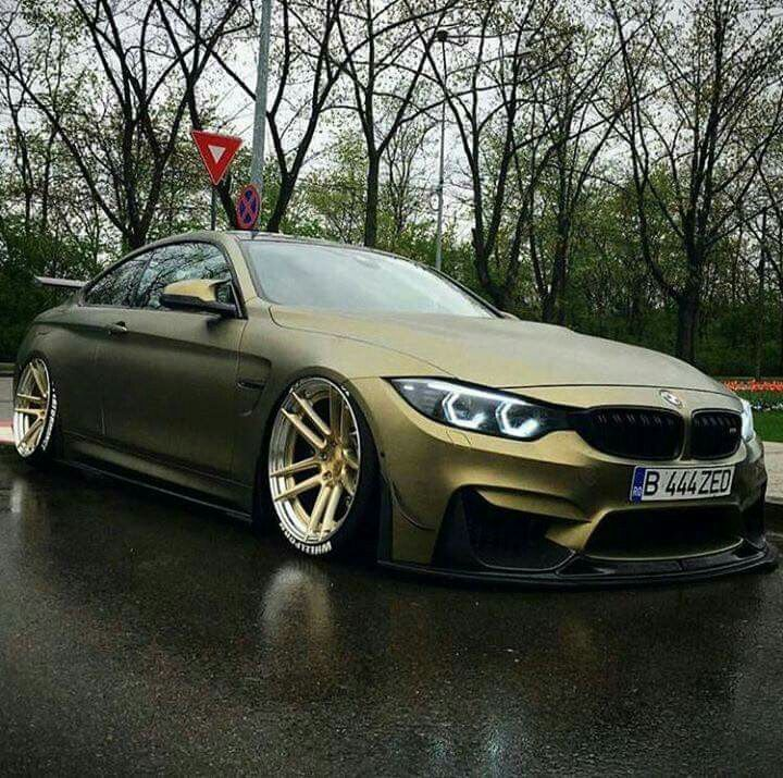 Bmw Z Performance F82 M4 Matte Green Slammed Luxury Cars