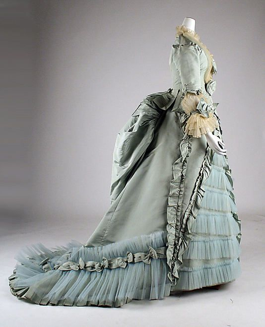 Dress, Dinner  A. Corbay  (French)    Date:      1873  Culture:      French  Medium:      silk