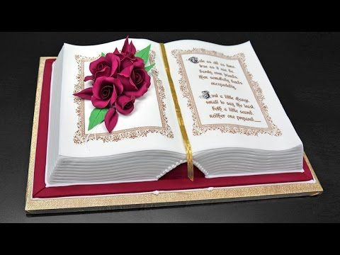How to Make a 3D Book Cake - YouTube