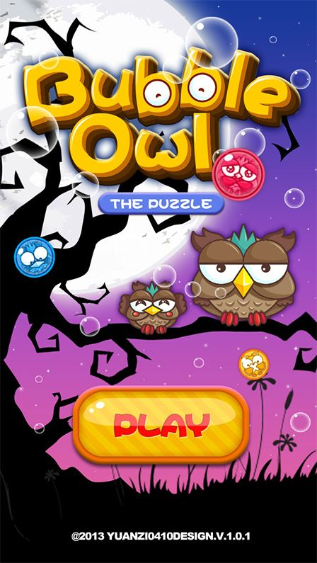 Bubble Owl ~`Game UI by yuan yuan, via Behance