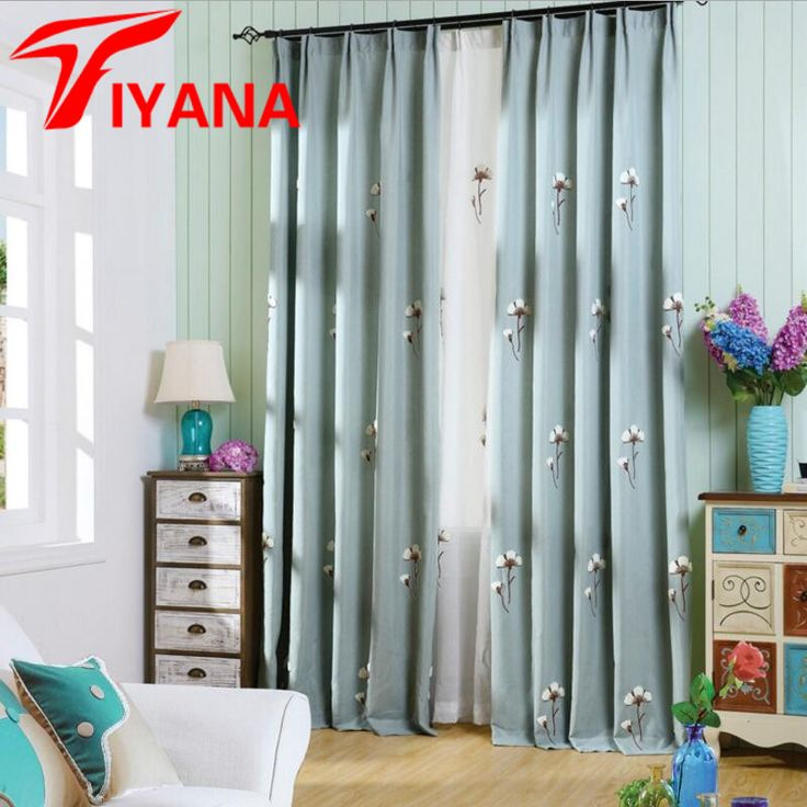 Aliexpress.com : Buy Embroidered flower sheer curtains with thick cotton linen window curtains for bedroom living room kitchen window blind  WP009#20 from Reliable curtain glass suppliers on Beautiful Houses Store