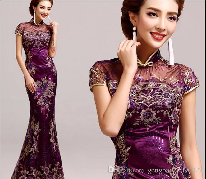 Show your best to all people even in the evening and then get new style prom dresses vestidos cheongsam purple retro prom cheongsam dress with short sleeves chinese cheongsam 5526 in gengbao_2090922 and choose wholesale maternity evening dresses,occasion dresses uk and cheap evening dresses on DHgate.com.