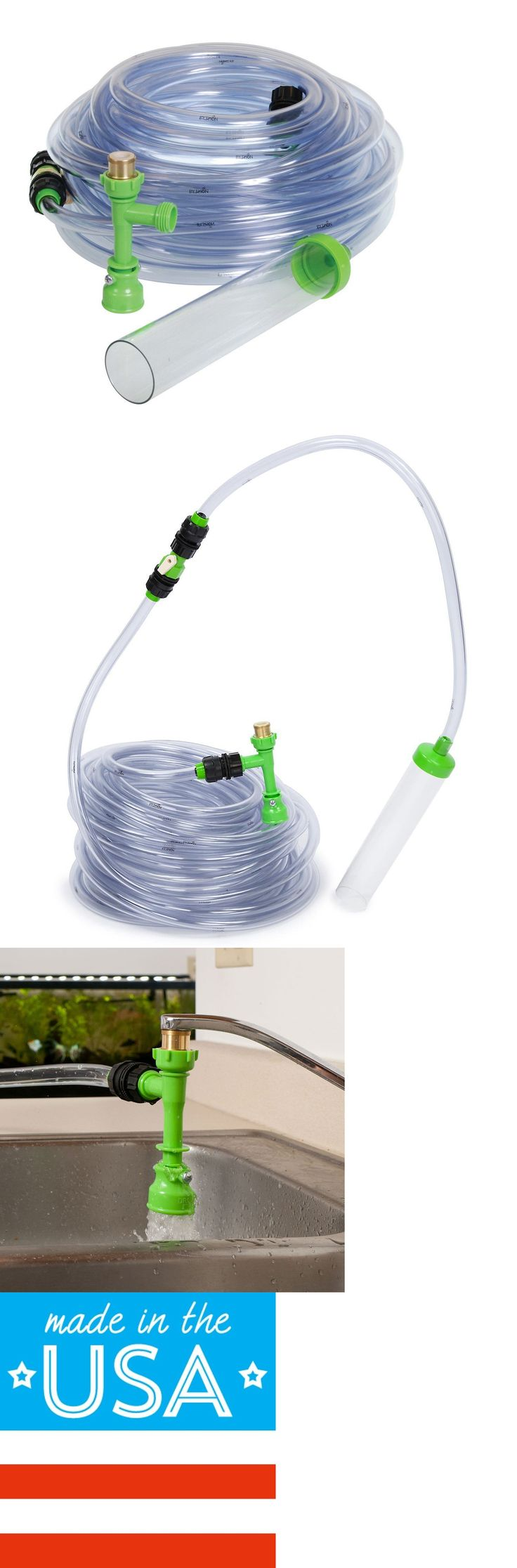Jbj aquarium fish tank siphon gravel vacuum cleaner - Cleaning And Maintenance 148983 Python Products No Spill Clean And Fill Aquarium Maintenance System 25ft