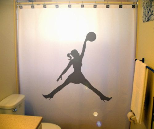 Basketball Shower Curtain Girls Bathroom Decor Extra Long Wide Custom Fabric Colors 84 In 2018