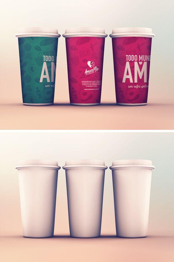 Cups Mockup Free PSD