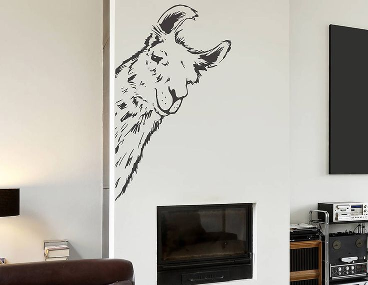 This hilarious llama wall sticker is a perfect conversation starter in any room!