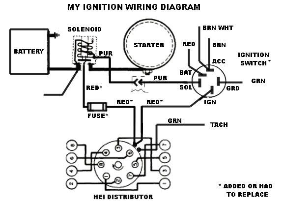 mallory ignition wiring diagram hei distributor  wiring