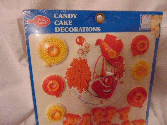 Betty Crocker , Cake , Candy Decoration, Happy Birthday , Clown , 1981 Paper Clown by simpleholidaydecor on Etsy
