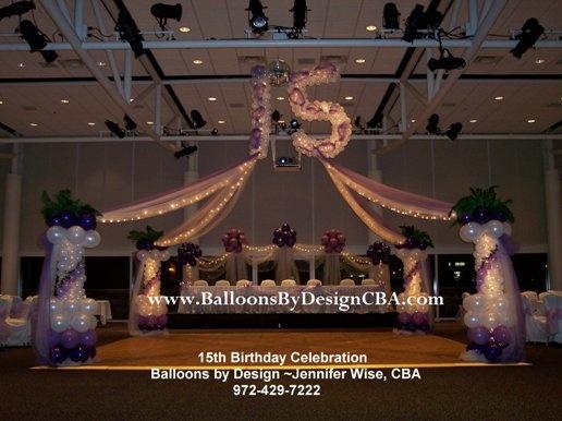balloon dance floors | Dance Floor Designs - Balloons by Design Texas, Balloon Arches,Columns,Towers ...