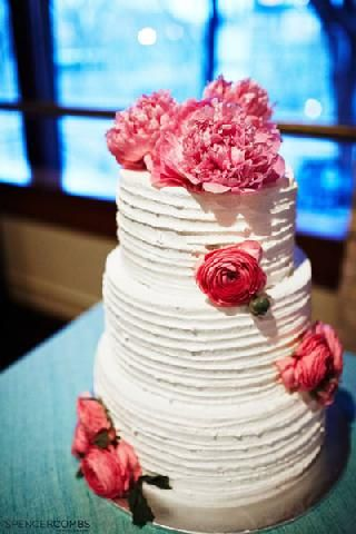 cute wedding cake from Three Sons Catering