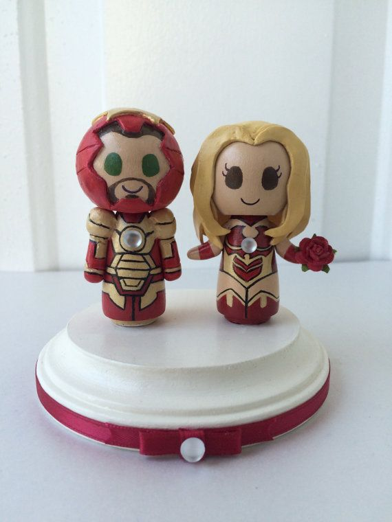 Hey, I found this really awesome Etsy listing at https://www.etsy.com/listing/264116731/iron-man-3-themed-wedding-cake-topper-w