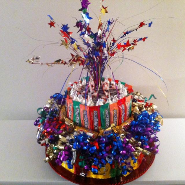 Fun time candy cake