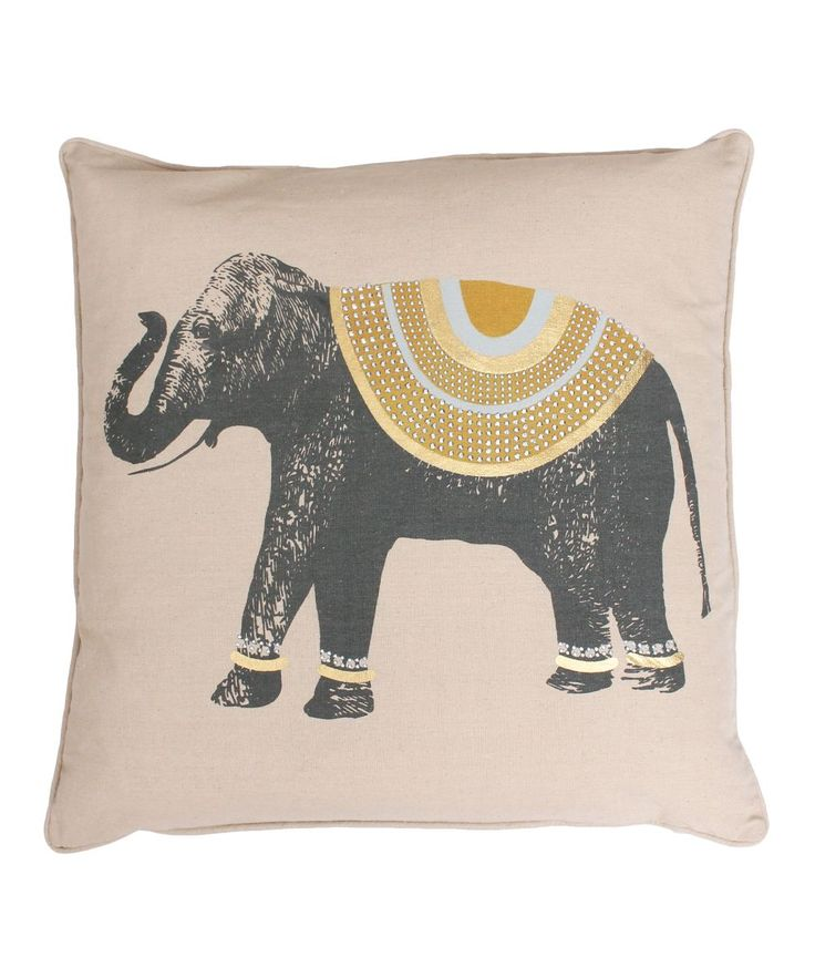 Honey Gold Throw Pillow : 17 Best ideas about Elephant Throw Pillow on Pinterest Beauty full, Elephant decorations and ...