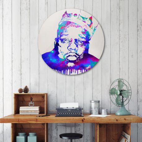 Notorious metal disc by Fimbis | Curioos #biggie #biggiesmalls #purple #home #homedecor #interiors #interiordesign #fashionista #fashion #colourful #rap #hiphop