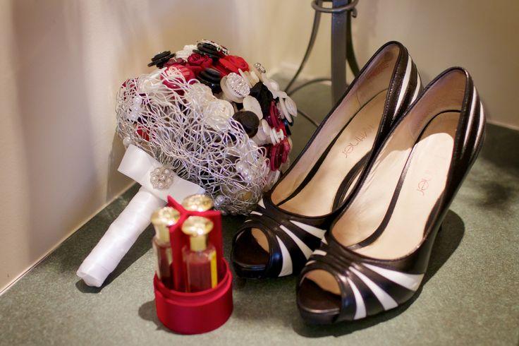 Shoes, bouquet & perfume