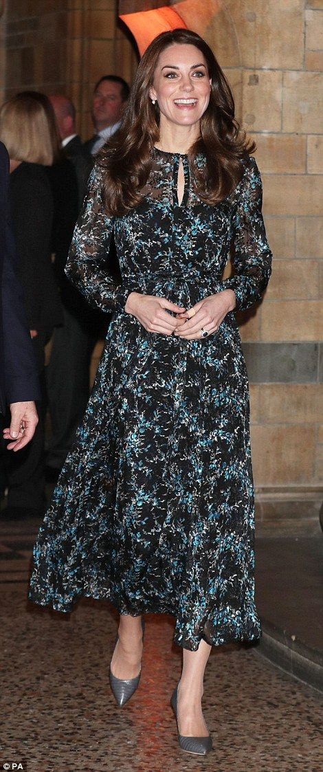Kate, who is patron of the world famous museum, seemed to be in high spirits upon her arri...