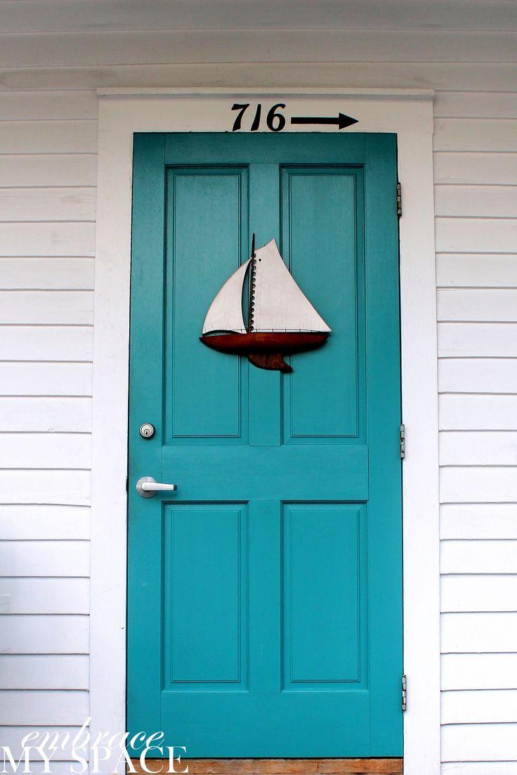 Coastal front door color ideas coastal decorating for Interior design front house