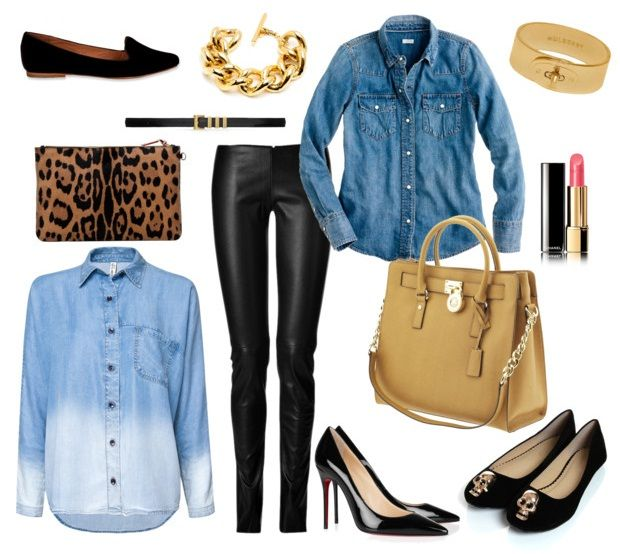 Черные кожаные брюки | Marta-club.ru