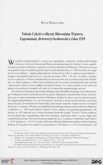 Tabula Cebetis z oficyny Hieronima Wietora. Zapomniany drzeworyt krakowski z roku 1519 - Deutsche Digitale Bibliothek