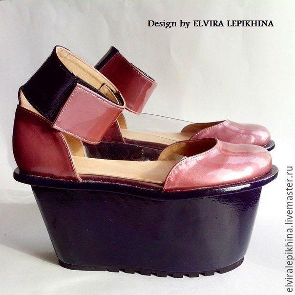 """""""Сине-розовые"""" - синий, сине-розовый, обувьэксклюзив, обувь ручной работы, обувь на зака"""