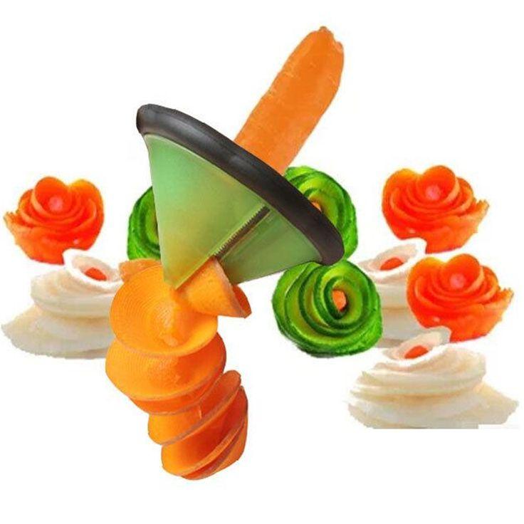 Kitchenware Vegetable Food Garnish Spiral Slicer Flower