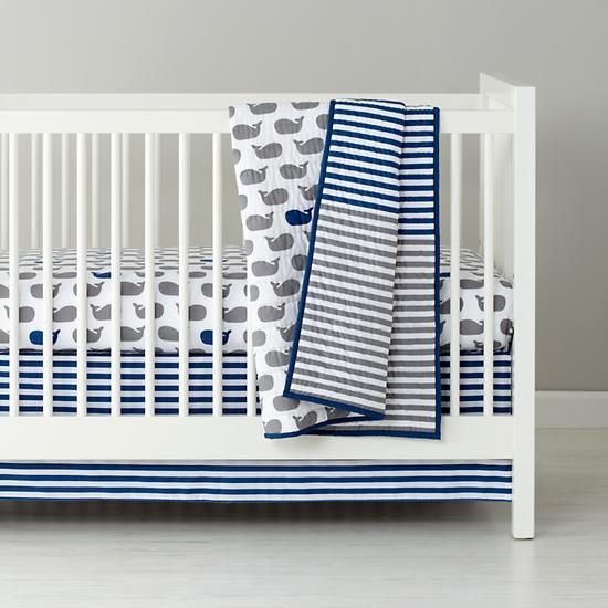 The Land of Nod | New School Crib Bedding (Make a Splash) in Crib Bedding Collections