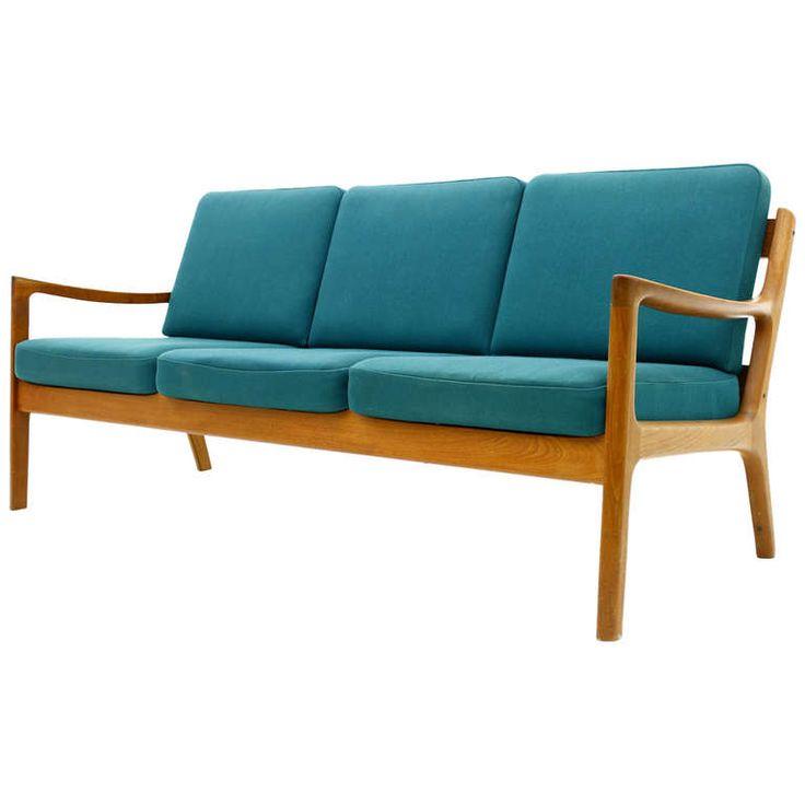 Teak Sofa by Ole Wanscher Sofa, France& Son Denmark, 1951 Modern sofa, Teak and Antiques