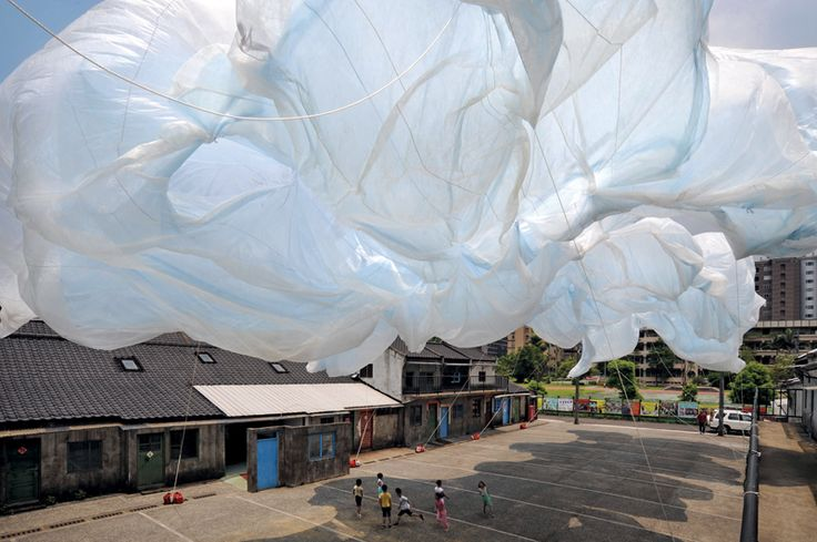 Possible structure overhead - Helium Balloons with sheets around