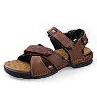 Sapatos+Masculinos-Sandálias-Preto+/+Marrom-Napa+Leather-Ar-Livre+/+Escritório+&+Trabalho+/+Social+/+Casual+/+Para+Esporte+–+BRL+R$+354,89