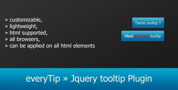 everyTip » Jquery tooltip Plugin