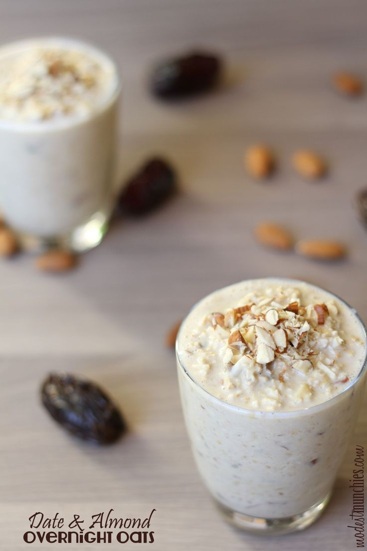 A guest post for yummy food kitchenflavours.net event Joy from fasting to Feasting. Delicious date and almond overnight oats.