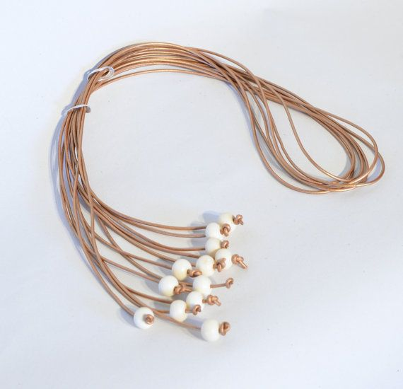 Inspired by nature bone beads bound with by Cardoucci on Etsy