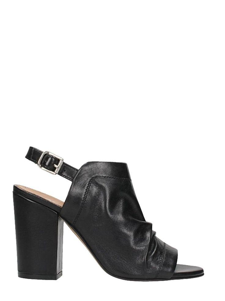 JULIE DEE | Julie Dee Julie Dee Black Leather Mules #Shoes #Sandals #JULIE DEE