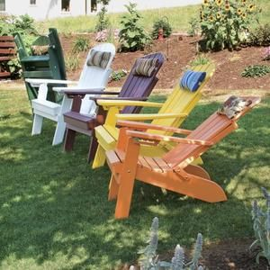 A & L Furniture Poly Folding And Reclining Fanback Adirondack Chair